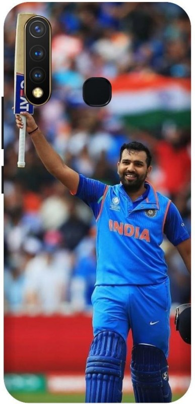 PHONE WALEY.COM Back Cover for Vivo Y19 (india cricket,Rohit Sharma(Multicolor, Waterproof)
