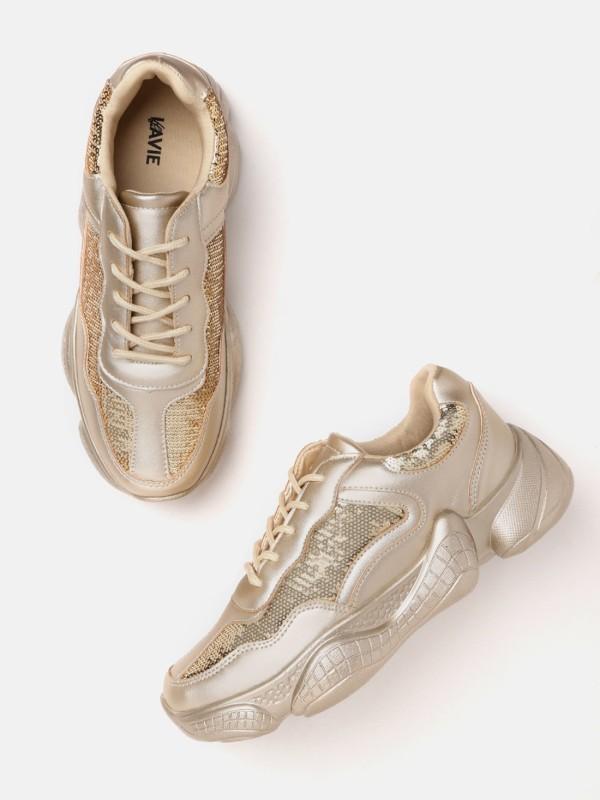 Lavie Sneakers For Women(Gold)
