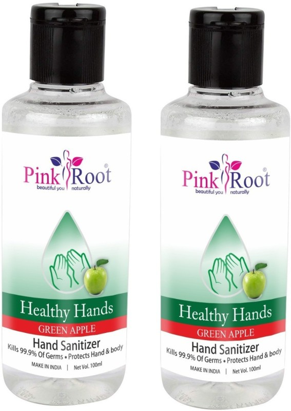 Pink Root Green Apple Sanitizer (Set of 2) Bottle(2 x 100 ml)