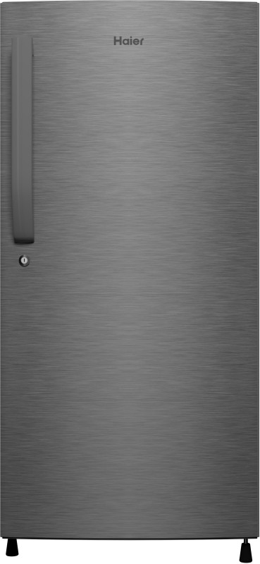 Haier 195 L Direct Cool Single Door 4 Star (2020) Refrigerator(DAZZEL STEEL, HED-20CFDS)
