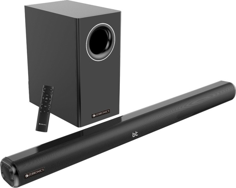 Zebronics Zeb-Juke Bar 9000 Pro Dolby 120 W Bluetooth Soundbar(Black, 2.1 Channel)