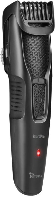 Syska HT200 Pro Beard Pro Runtime: 45 min Trimmer for Men(Black)