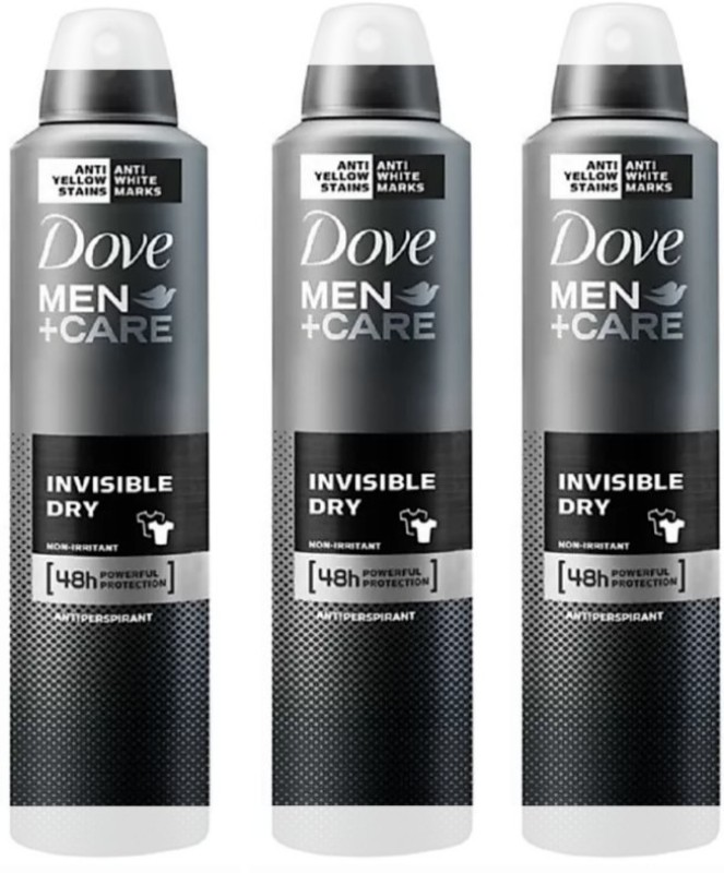 Dove MEN+ Care Invisible Dry Compressed Antiperspirant (Imported, Made in UK) Deodorant Spray - For Men Deodorant Spray - For Men & Women(450 ml, Pack of 3)