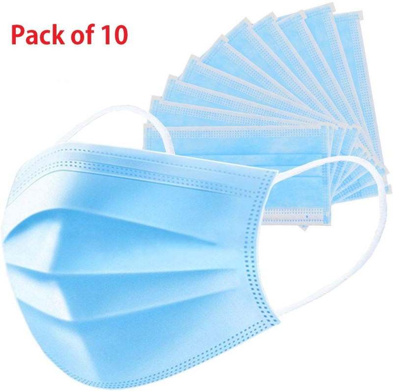 HSR Anti Flu 3 Filter Layers Non-Woven Antiviral Virus Protection and Personal Health Respirator Combo of 10 Piece Surgical Mask Face Masks Unisex Anti Dust Anti Pollution Anti Flu 3 Filter Layers Non-Woven Antiviral Virus Protection and Personal Health Respirator Mask and Respirator 10 Pcs Disposab