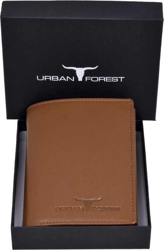 Urban Forest Men Casual, Formal Khaki Genuine Leather Wallet(9 Card Slots)