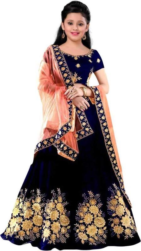 MF Retail Anarkali Gown(Dark Blue)