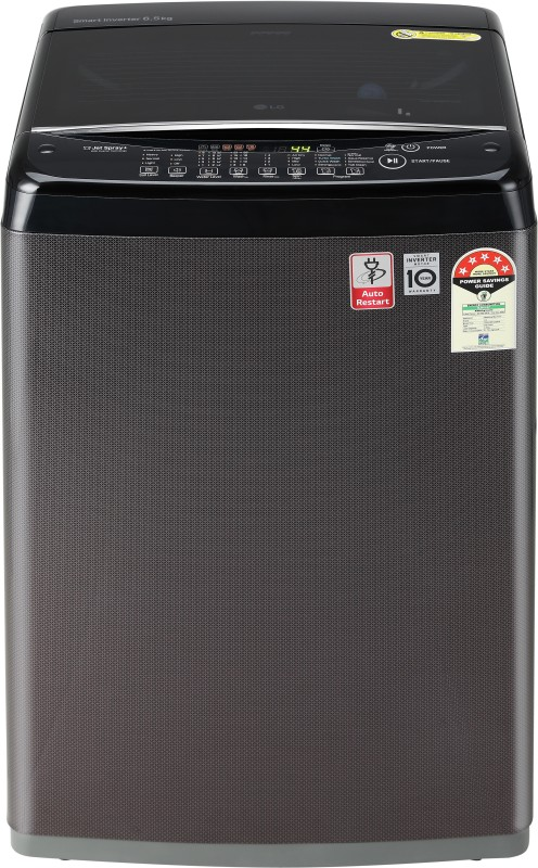 LG 6.5 kg Fully Automatic Top Load Black, Brown(T65SJBK1Z)