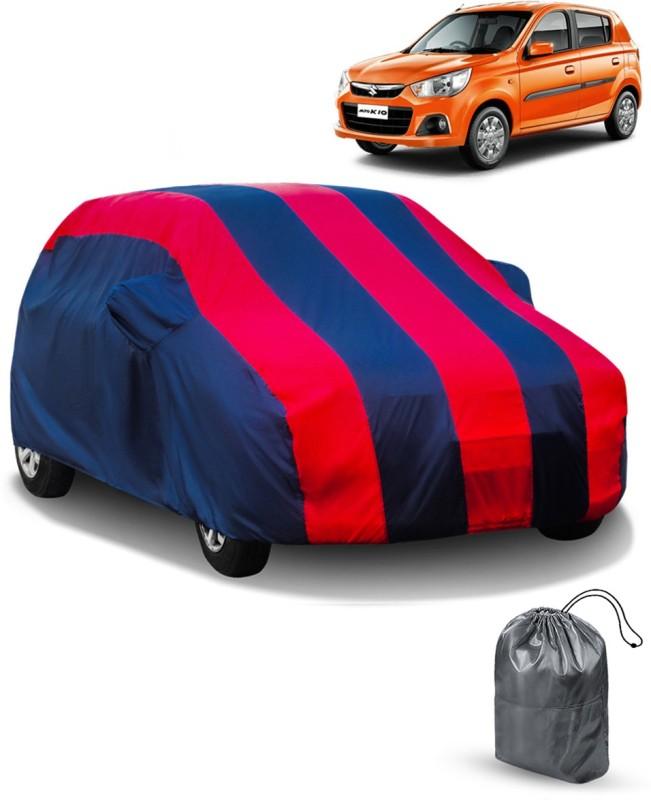 FABTEC Car Cover For Maruti Suzuki Alto (With Mirror Pockets)(Red, Blue)