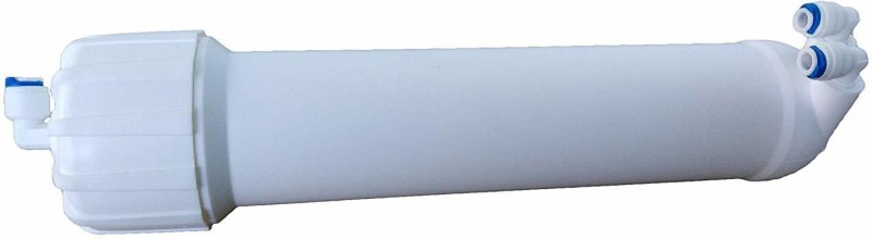 SHAPURE RO Membrane Housing Virgin food Grade Double O Ring Filter with 3pcs elbow, 1 pcs Membrane Housing and 1 Taflon Tape, Suitable for 75,80 & 100 GPD Membrane all Brand Domestic RO Water Purifier Solid Filter Cartridge(0.001, Pack of 5)
