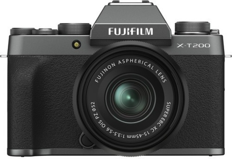 Fujifilm X Series X-T200 Mirrorless Camera Body with 15-45 mm Lens(Black, Grey)