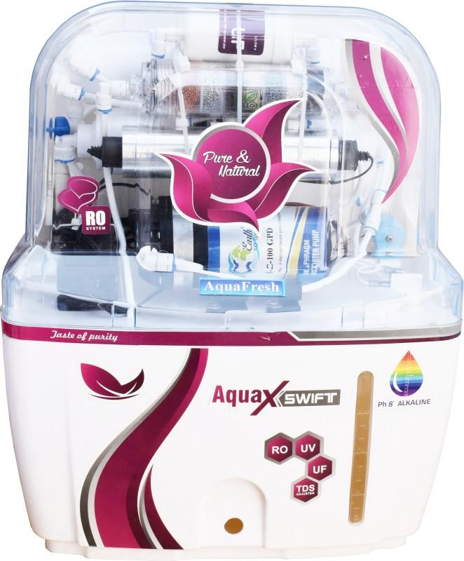 Aqua Fresh Red AquaXSwift Model Alkaline purify Mineral Ro + Uv + Uf + Tds + Alkaline Filter12 L 12 L RO + UV + UF + TDS Water Purifier(White)