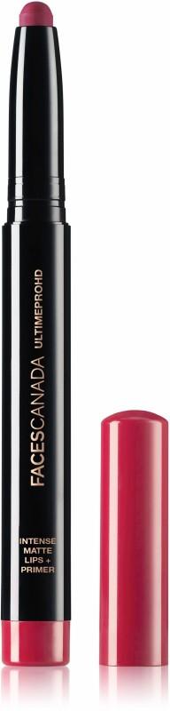 Faces Canada Ultime Pro HD Intense Matte Lips + Primer 11 Bold Wine 1.4g(Bold Wine 11, 1.4 g)
