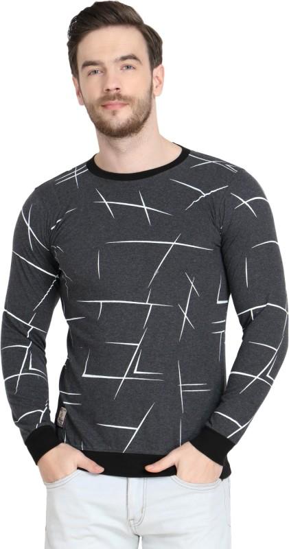 UZee Printed Men Round Neck Multicolor T-Shirt
