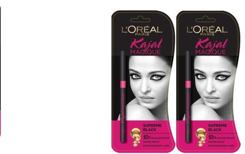 L'Oreal Paris Supreme Black 0.70 g (pack of 2) 0.70 g(Black) Supreme Black 0.70 g (pack of 2)