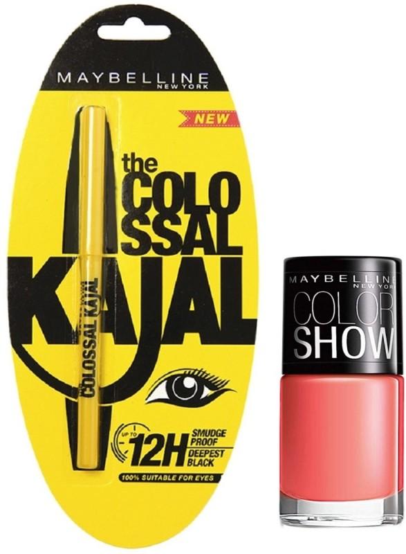 Maybelline The Colossal Kajal - 1 with Offer 0.35 g(Black)