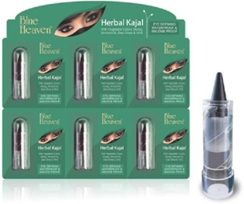 Blue Heaven Mini Herbal Kajal( Set of 6 Pc )(Black, 1.25 g)