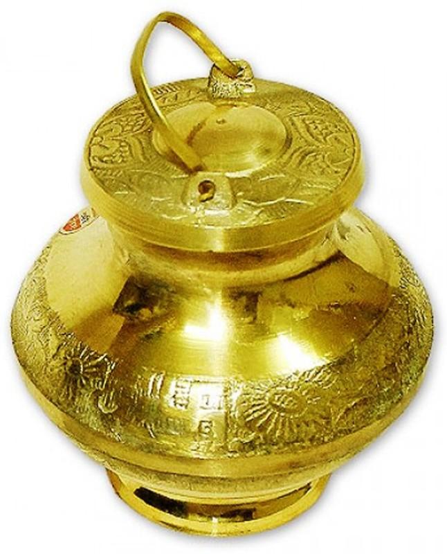Vedic Vaani Brass Kalash(Height: 2.25 inch, Gold)