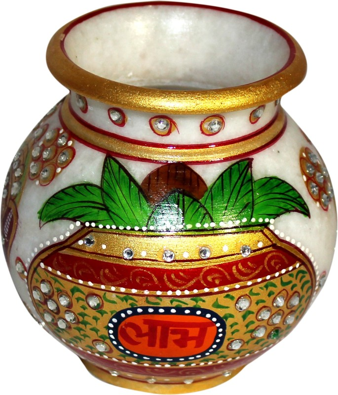 MadeInIndiaGallery Marble Kalash(Height: 4 inch, Multicolor)