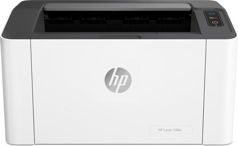 HP Laser 108 w Single Function WiFi Monochrome Printer(White, Grey, Toner Cartridge)