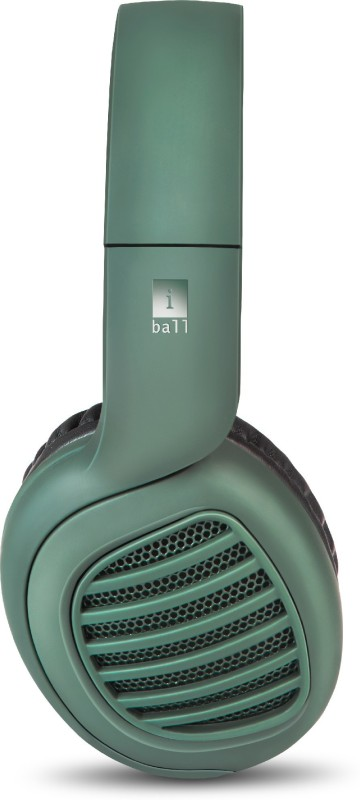 iBall Decibel Edition Bluetooth Headset(Forest Green, Wireless over the head)