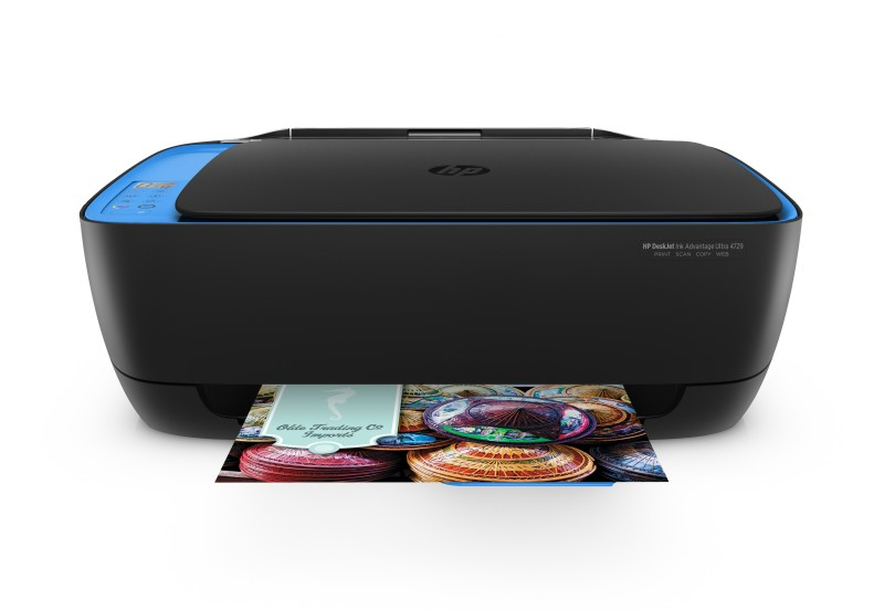 HP DeskJet Ink Advantage Ultra 4729 Multi-function WiFi Color Google Assistant and Alexa Printer(Black, Ink Cartridge)