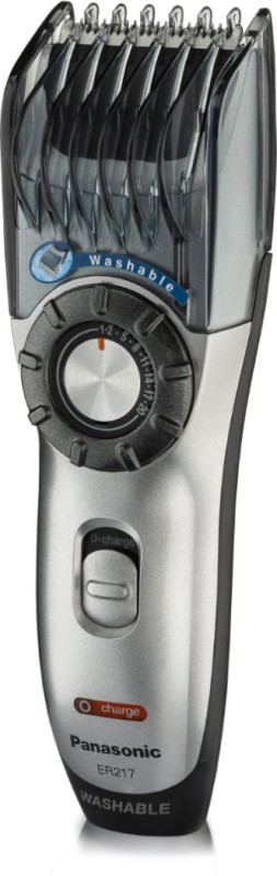 Panasonic Washable Er 217 Made In Japan Runtime: 60 min Trimmer for Men(Grey)