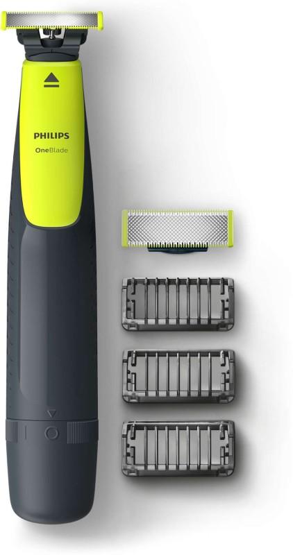 Philips QP2513 Runtime: 30 min Trimmer for Men(Green, Black)