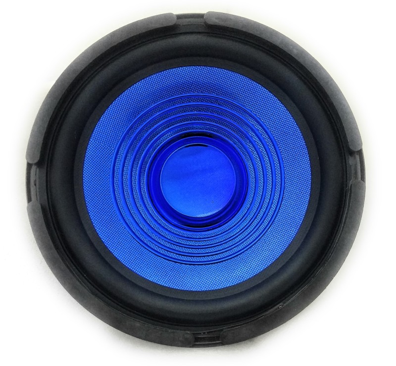 FREDO 8ELECBLUP Full Range Speaker(Pack of 2) Car/Home/Sound Box 8 inches 8 Ohms/ 70 Watts(Electric Blue) Subwoofer(Passive , RMS Power: 49 W)
