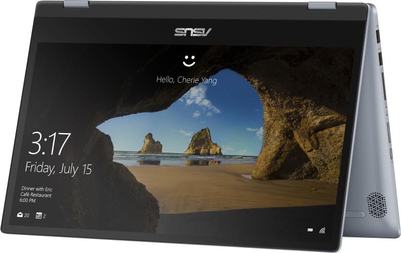 Asus VivoBook Flip 14 Core i3 10th Gen - (4 GB/512 GB SSD/Windows 10 Home) TP412FA-EC372TS 2 in 1 Laptop(14 inch, Silver Blue, 1.5 kg, With MS Office)