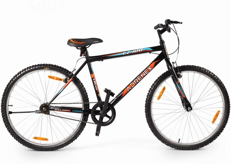 Adrenex by Flipkart CZ100 26 T 99% Assembled Hybrid Cycle/City Bike(Single Speed, Black)