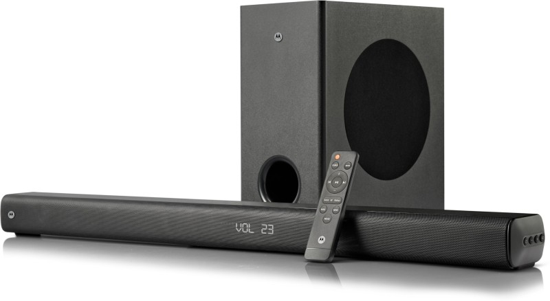 Motorola AmphisoundX Dolby Wireless 160 W Bluetooth Soundbar(Black, 2.1 Channel)