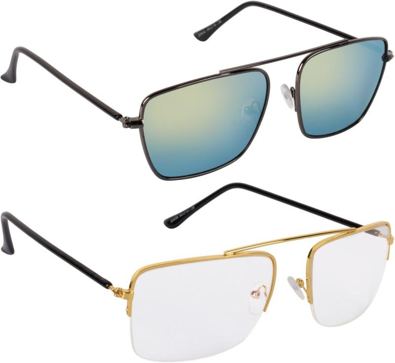 NuVew Wayfarer Sunglasses(For Men & Women, Green, Clear)
