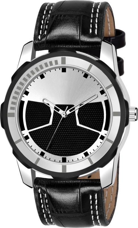 Skmi Sports Design Attractive Black Leather Belt Analog Watch - For Boys Analog Watch - For Men