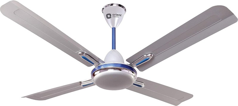 Orient Electric QUADRO ORNAMENTAL 1200 mm Ultra High Speed 4 Blade Ceiling Fan(SILVER BLUE, Pack of 1)