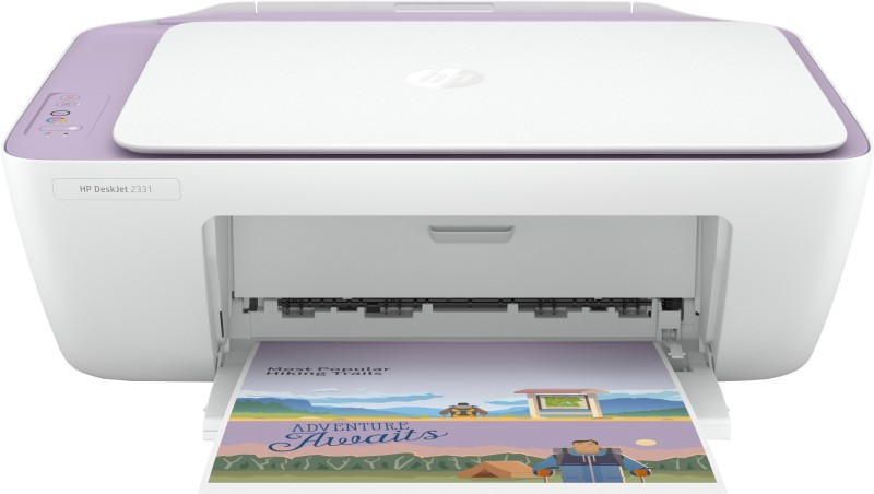 HP DeskJet 2331 Multi-function Color Printer(White, Purple, Ink Cartridge)