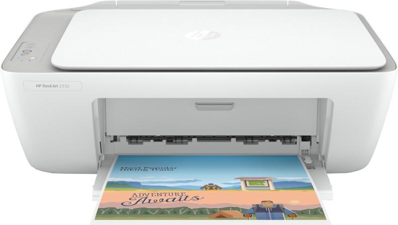 HP DeskJet 2332 Multi-function Color Printer(White, Grey, Ink Cartridge)
