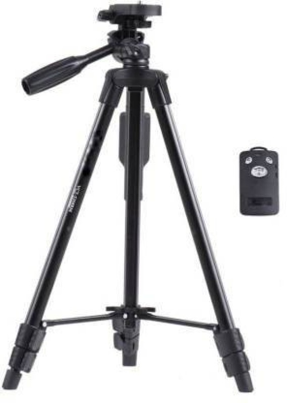 pentroclick Tripod 3388 with Bluetooth Remote for Mobiles Tripod Kit (Black, Supports Up to 3000 g) Tripod Kit(Black, Supports Up to 1500 g)