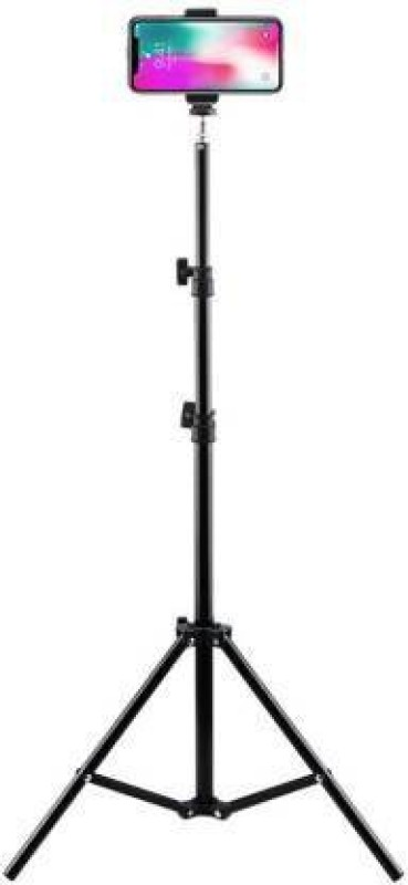 sourceindiastore Camera Tripod Stand With 3-Way Head Tripod for Digital Camera DV Camcorder, Tripod 3110 with mobile Phone holder mount for all Smartphone Tripod (Silver, Black, Supports Up to 1500 g) Tripod(Black, Supports Up to 2000 g)