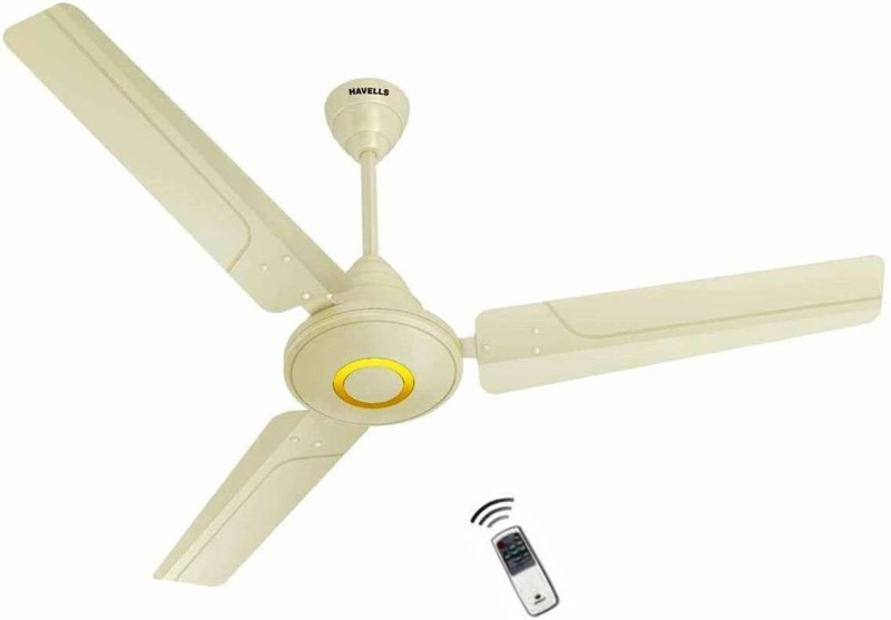 """Havells EFFICIENCIA NEO 48"""" Ivory, Bldc Fan, Remote Control, 26 Watts 1200 mm 3 Blade Ceiling Fan 1200 mm 3 Blade Ceiling Fan(Ivory, Pack of 1)"""