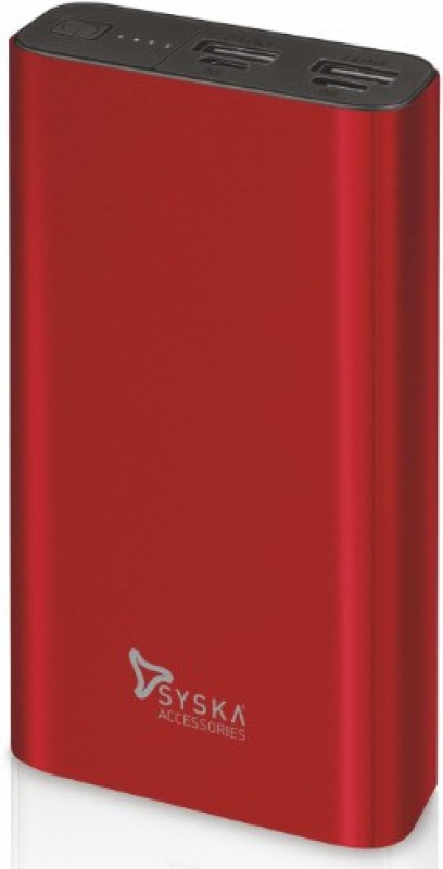 Syska 20000 mAh Power Bank (Fast Charging)(Red, Lithium Polymer)