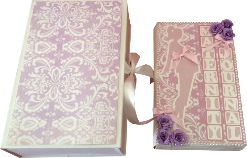 Crack of Dawn Crafts My Maternity Journal Mini Scrapbook Keepsake(Pink and Purple)