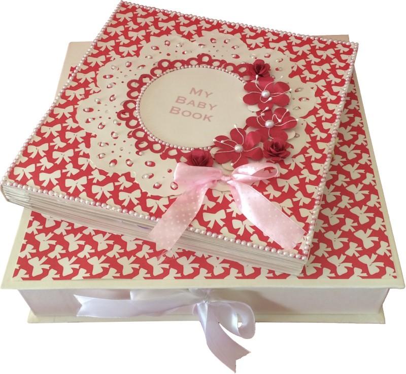 Crack of Dawn Crafts Baby Scrapbook Record Book/ Gift- 18 topics Keepsake(Pink)