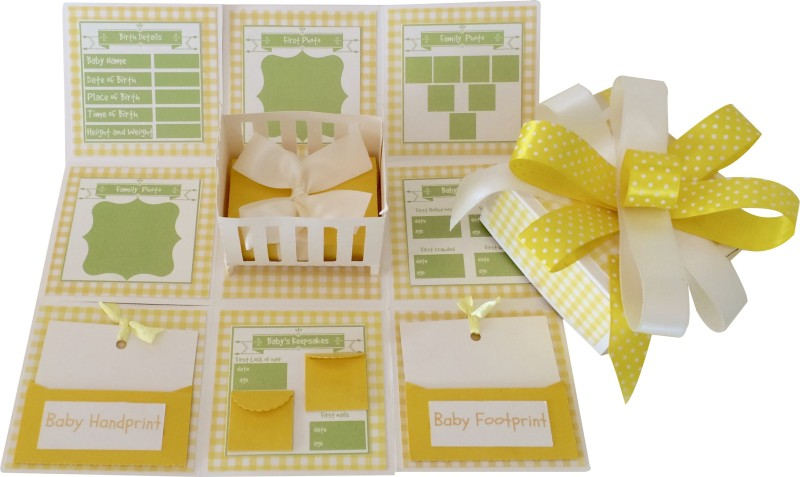 Crack of Dawn Crafts Baby Explosion Box Keepsake(Yellow)