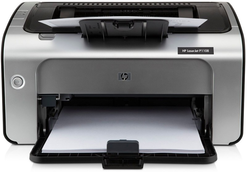 HP LaserJet Pro P1108 Single Function Monochrome Printer(Black, White, Toner Cartridge)