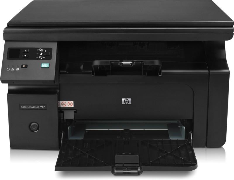 HP LaserJet Pro M1136 MFP Multi-function Monochrome Printer(Black, Toner Cartridge)