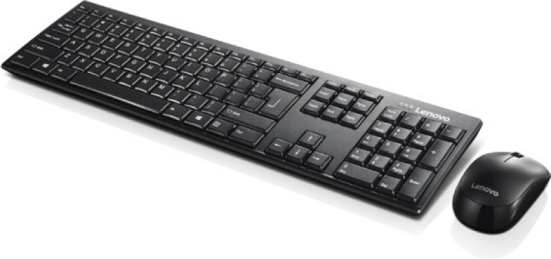 Lenovo KB MICE_BO Wireless combo 100 Eng Wireless Laptop Keyboard(Black)