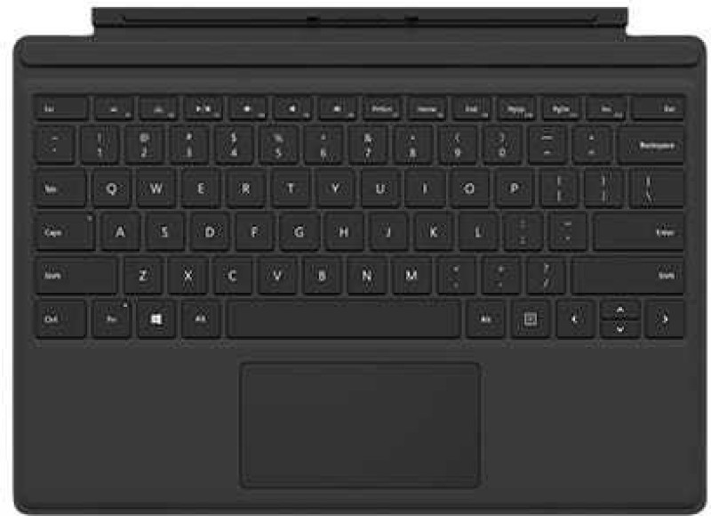Microsoft Surface Pro Type Cover Magnetic Laptop Keyboard(Black)