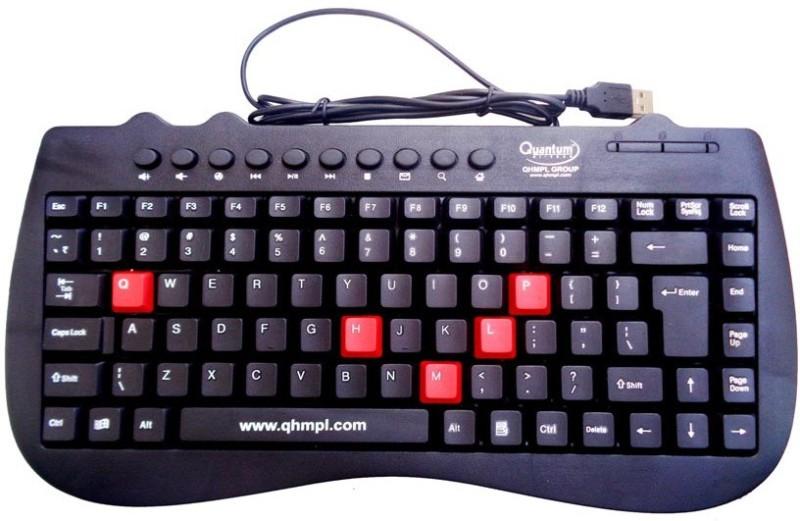 Quantum QHM7309 Wired USB Laptop Keyboard(Black) Mini Multimedia keyboard