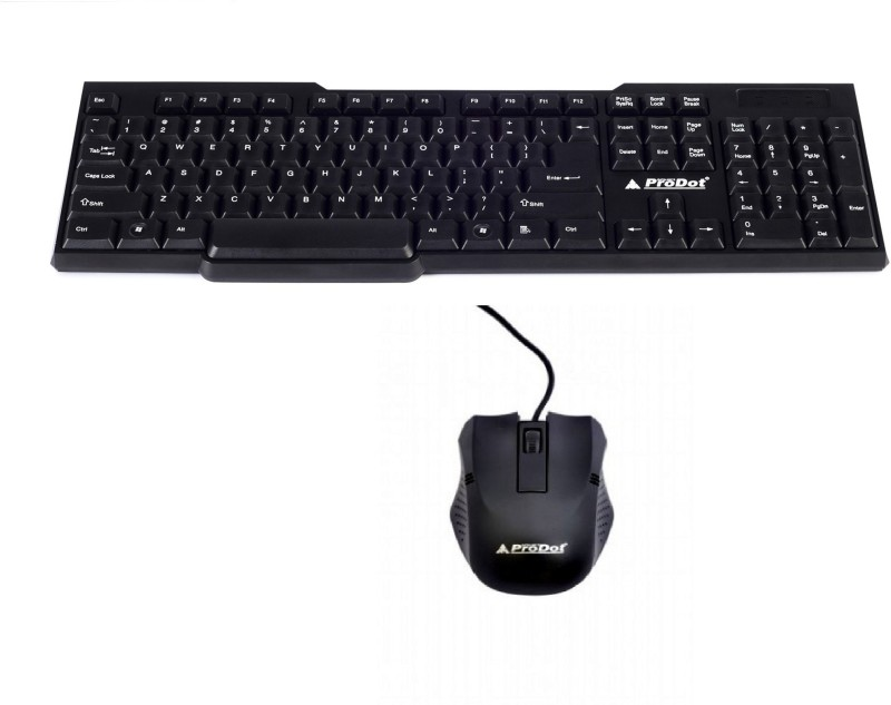 ProDot Kb-207s Keyboard Mouse Wired USB Laptop Keyboard(Black)