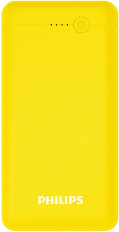 Philips 10000 mAh Power Bank(Yellow, Lithium Polymer)